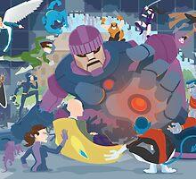X-Men vs. Senitnels by chrisvendrick
