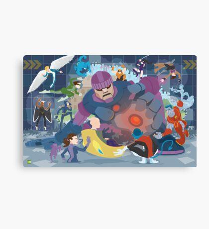 X-Men vs. Senitnels Canvas Print