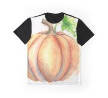 Watercolor Painting of a Pumpkin Graphic T-Shirt