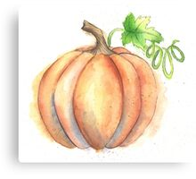 Watercolor Painting of a Pumpkin Canvas Print
