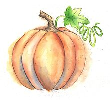 Watercolor Painting of a Pumpkin Photographic Print