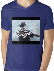 Sticky Fingers Mens V-Neck T-Shirt