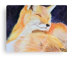 Sweet Fox Canvas Print