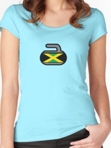 Jamaica Rocks! - Curling Rockers Women's Fitted Scoop T-Shirt