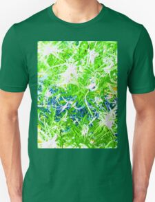 Storm Front Green White Blue Aqua Turquoise Design Designer Bursts Blasts Abstract Yellow  Unisex T-Shirt