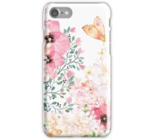 Lush lazy summer afternoon floral watercolor garden iPhone Case/Skin