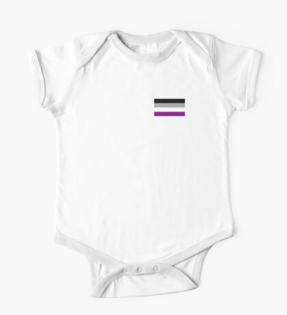 asexual pride flag One Piece - Short Sleeve
