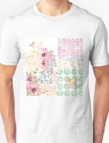 Lush watercolor floral medley Summer garden art Unisex T-Shirt