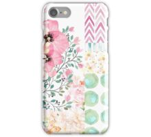 Lush watercolor floral medley Summer garden art iPhone Case/Skin