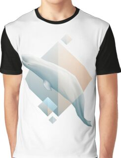 Beluga whale geometric design symbol Graphic T-Shirt