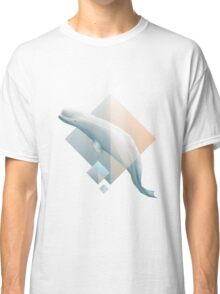 Beluga whale geometric design symbol Classic T-Shirt