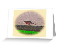 Rail Robin Greeting Card