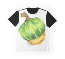 A delicata squash painted in watercolor. Graphic T-Shirt