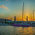 The Clock Tower Naval Dockyard Bermuda.. by buddybetsy