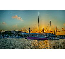 The Clock Tower Naval Dockyard Bermuda.. Photographic Print