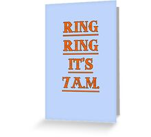 Ring, Ring... Greeting Card