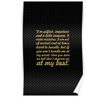 "I am selfish... ""Marilyn Monroe"" Inspirational Quote Poster"
