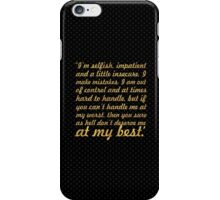 "I am selfish... ""Marilyn Monroe"" Inspirational Quote iPhone Case/Skin"
