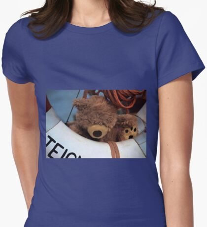 Teddy's Safe Womens Fitted T-Shirt