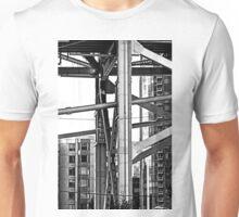 B&W - The Bay Bridge & Apartments San Francisco Unisex T-Shirt