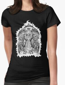 INVADED (white reverse print) Womens Fitted T-Shirt