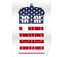 Doctor Who: American Flag TARDIS Poster
