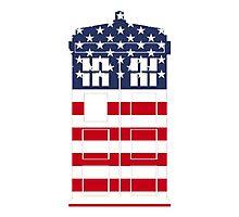 Doctor Who: American Flag TARDIS Photographic Print