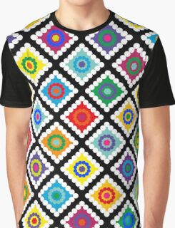 Digital Crochet Graphic T-Shirt