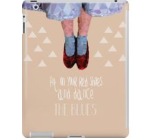 Dorothy's red shoes iPad Case/Skin