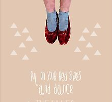 Dorothy's red shoes by Happy Thoughts