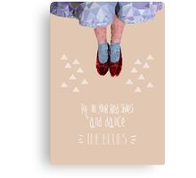 Dorothy's red shoes Canvas Print