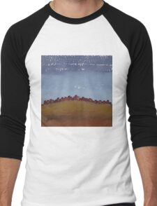 Pueblo on the Hill original painting Men's Baseball ¾ T-Shirt