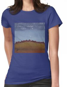 Pueblo on the Hill original painting Womens Fitted T-Shirt