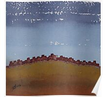 Pueblo on the Hill original painting Poster