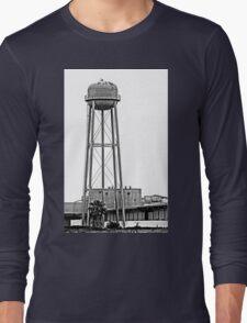 B&W - Water Tower in Rural California Long Sleeve T-Shirt