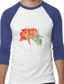 Peachy Tulips - T-Shirts Men's Baseball ¾ T-Shirt