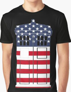 Doctor Who: American Flag TARDIS Graphic T-Shirt
