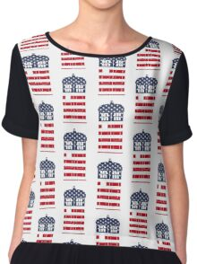 Doctor Who: American Flag TARDIS Chiffon Top