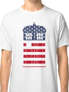 Doctor Who: American Flag TARDIS Classic T-Shirt