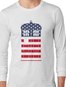 Doctor Who: American Flag TARDIS Long Sleeve T-Shirt