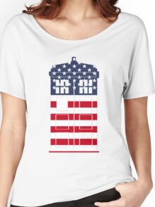 Doctor Who: American Flag TARDIS Women's Relaxed Fit T-Shirt