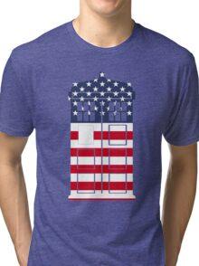 Doctor Who: American Flag TARDIS Tri-blend T-Shirt