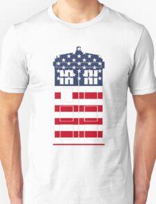 Doctor Who: American Flag TARDIS Unisex T-Shirt