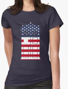Doctor Who: American Flag TARDIS Womens Fitted T-Shirt