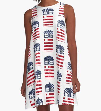 Doctor Who: American Flag TARDIS A-Line Dress