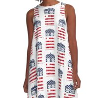 Doctor Who: American Flag TARDIS A-Line Dress