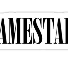 Lamestain (Black) Sticker