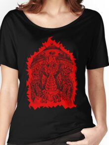 INVADED (red reverse print) Women's Relaxed Fit T-Shirt