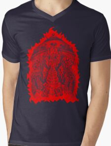 INVADED (red reverse print) Mens V-Neck T-Shirt