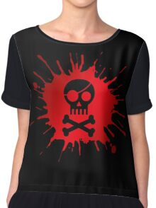 Pirate Halloween Skull Chiffon Top
